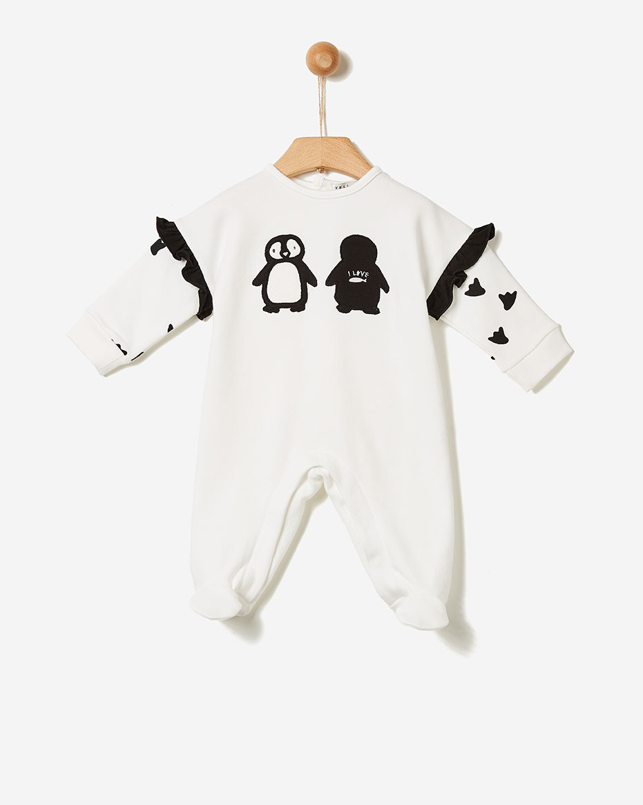 Ολόσωμο φορμάκι  Penguin Off White  Yell-oh