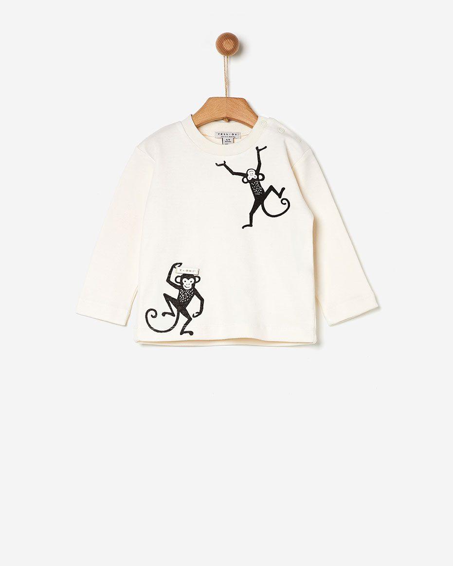 T-shirt White Monkey   Yell-oh