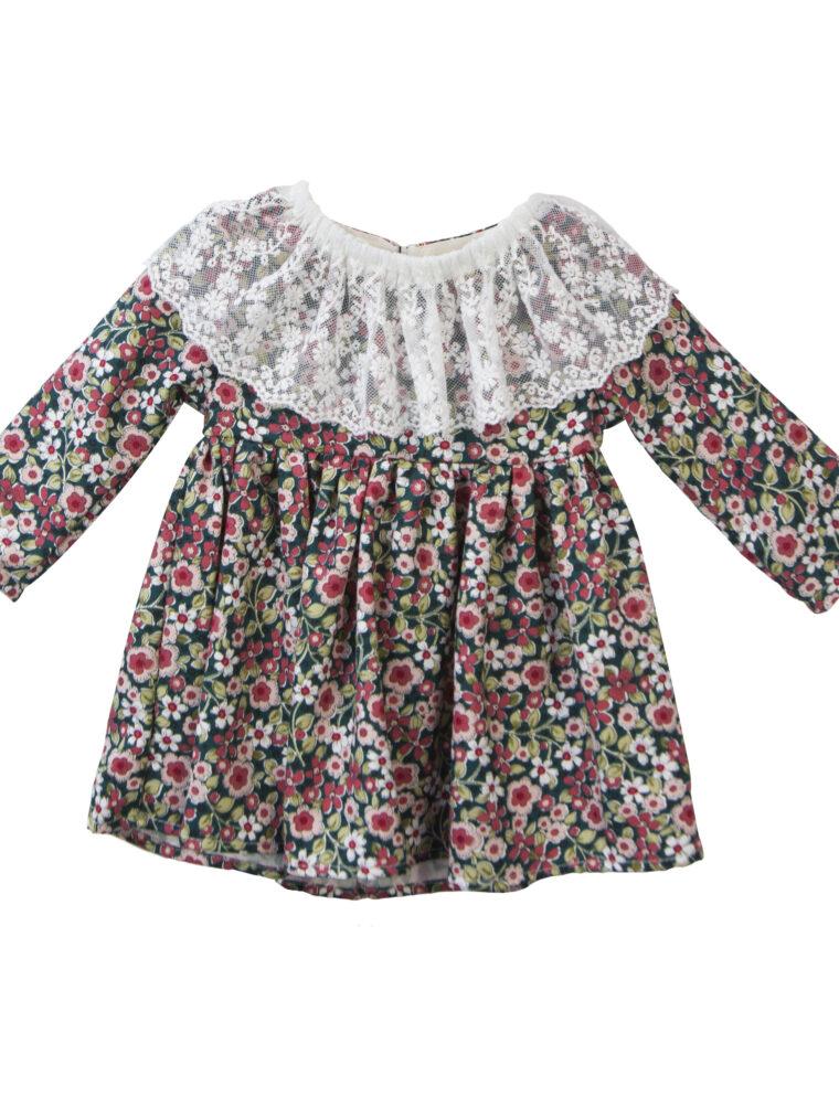 Φόρεμα Floral με Δαντέλα & Φουφούλα Two in a castle