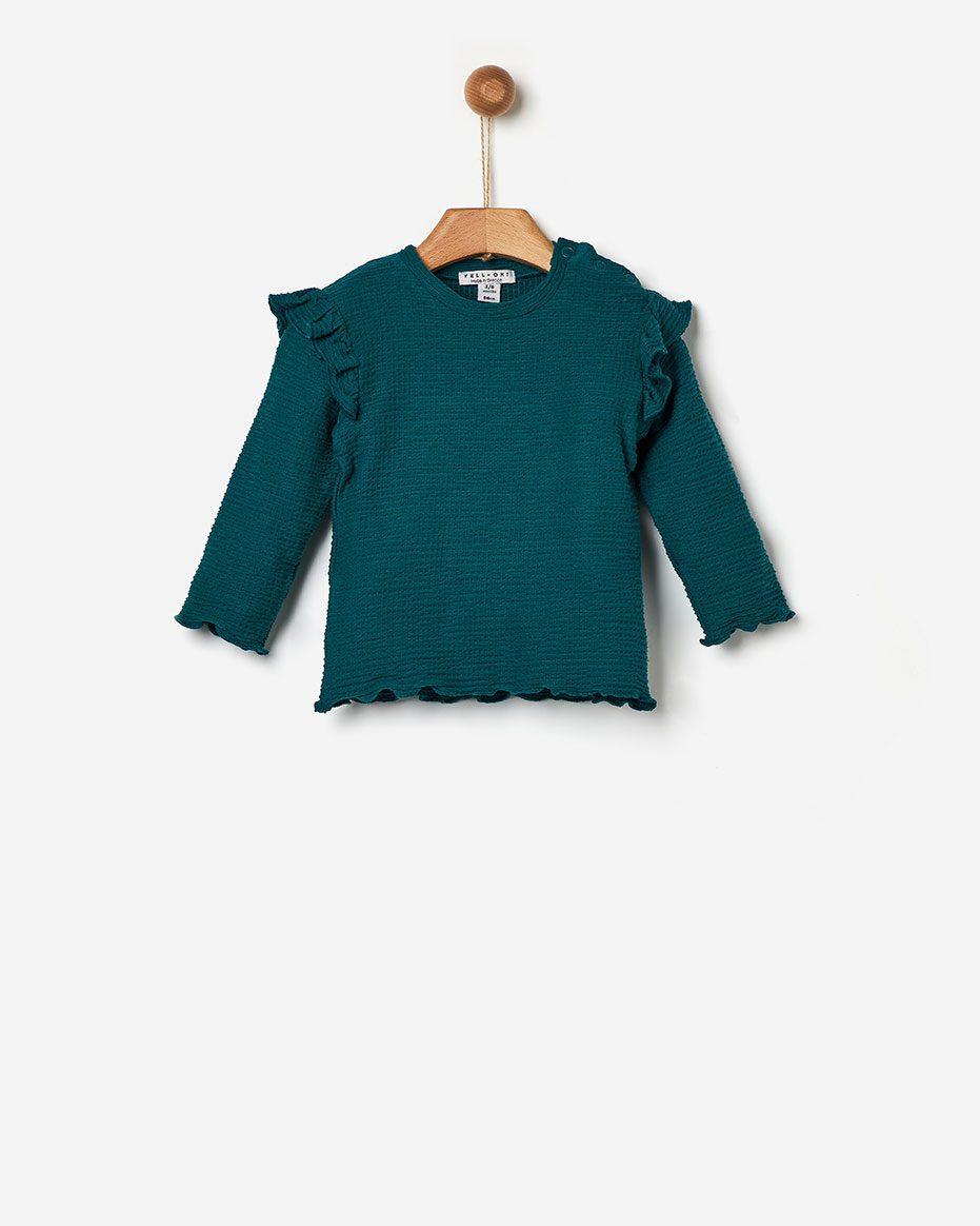 T-shirt Ριμπ με Βολάν  Green Yell-oh