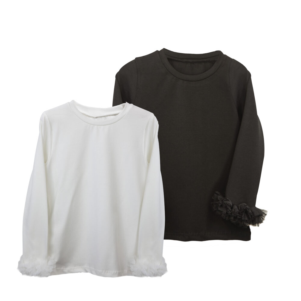 Μπλούζα Cotton με Τούλι στα Μανίκια Two in a castle