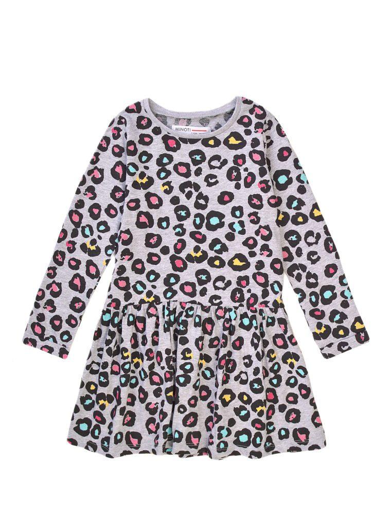 Φόρεμα Βαμβακερό Leopard Grey Minoti